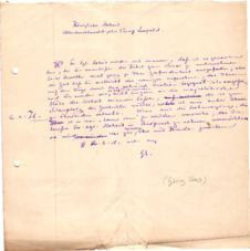 Eigenh. Brief mit Unterschrift