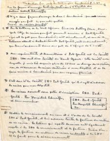 Bestellliste für Medikamente und Klinikbedarf für das Hospital von Dr. Albert Schweitzer