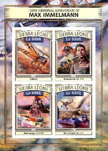 Briefmarkenblatt mit 4 Jubiläumsbriefmarken zum 100. Todestag